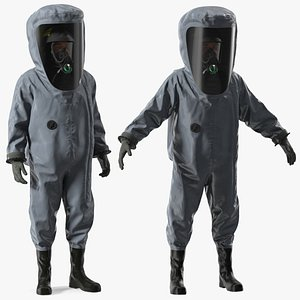 3D model Fully Encapsulating Chemical Protection Suit Rigged for Modo