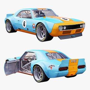 3D Chevrolet camaro gulf racing 1968 model