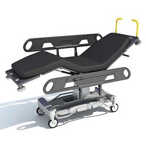 Patient Transfer Stretcher Trolley 3D model