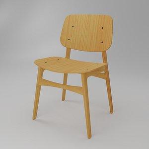 soborg chair - frame 3D model