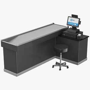 3D Cash Counter model