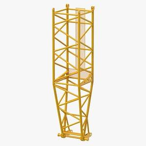 3D crane l pivot section