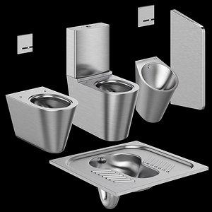 Toilet bowls and urinal DELABIE 3D model