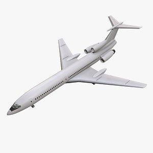 3D model Tupolev Tu-154 Blank With LODs