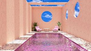 3D pool patio