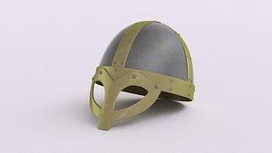 steel viking age helmet 3D model