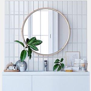 Decorative set for the bathroom 3D model