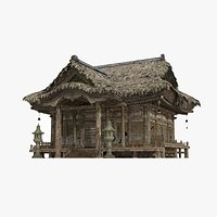 Thatched palaces and temples in ancient Asia