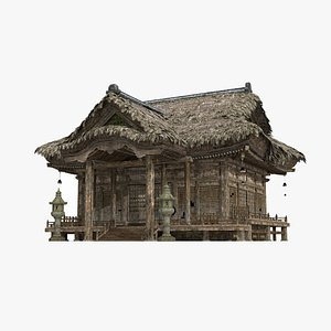 3D Thatched palaces and temples in ancient Asia