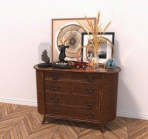3D cabinet furniture decoration