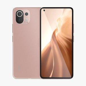 Xiaomi Mi 11 Lite Pink 3D model