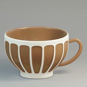 mug coffee embossed 3D model