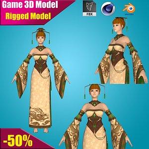 assassin girl warrior model