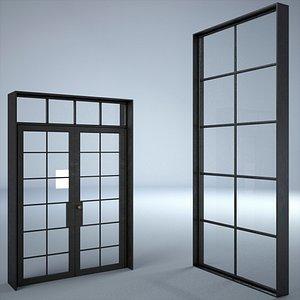 Industrial Window And Door 3D model