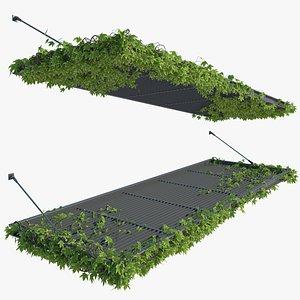 3D Pergola with Ivy v4 model
