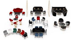 restaurant club furniture model