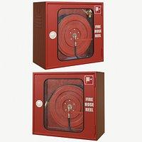 Fire hose reel glass box