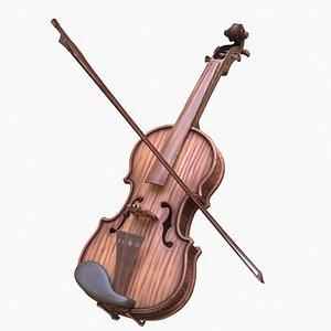 Stylized Wood Violin model