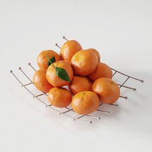 mandarine 3D model 3D model