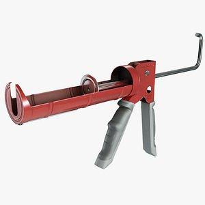 3D Hand Caulking Gun model
