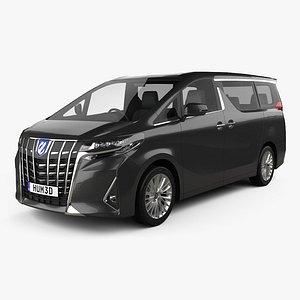 3D model Toyota Alphard Hybrid Executive Lounge 2018