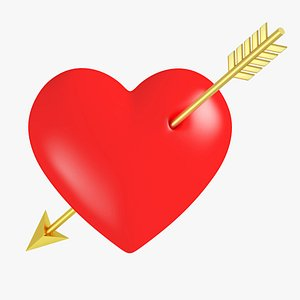 Heart with Arrow model