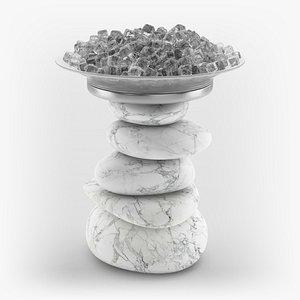 zen stones ice 3D