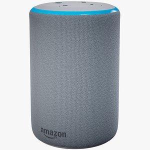Smart Speaker Amazon Echo Plus Generation 2  White Skin 3D