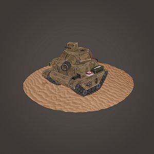 tank stylized 3D model