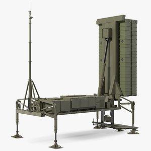 3D model Air Defense Missile System Armed Position