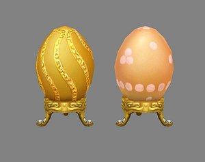 3D Cartoon Lucky Golden eggs Easter eggs Broken eggs