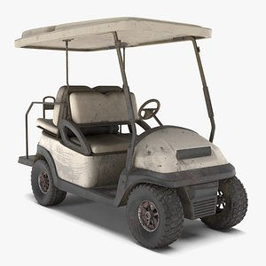 abandoned golf cart 3D model