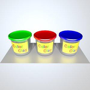 3D clay color