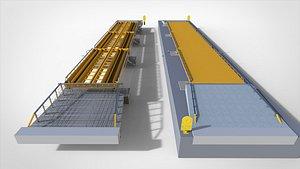 3D truck scales railroad track