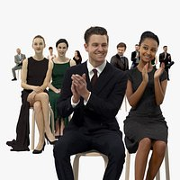 10x Scanned Elegant Sitting People Vol01 Collection Treapl 3D