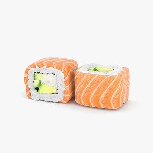 3D Sushi Philadelphia Roll