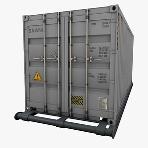 container 20 feet 3D model