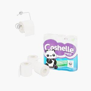 3D toilet rolls holder 9