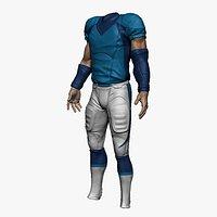 football Uniform with UV, Textures,