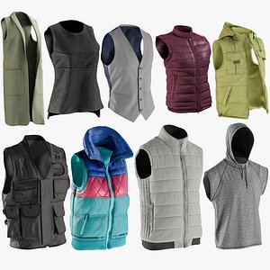 3D realistic vests 1 collections model