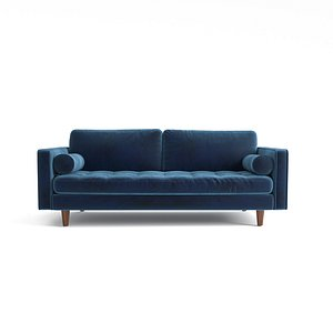 3D sofa tufted