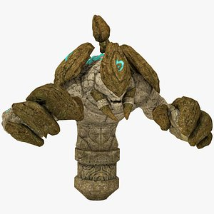3D Stone Golem Rigged model