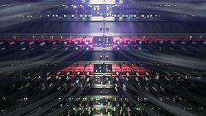 3D Servers room scene vray model
