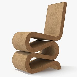Wiggle Side Chair Vitra 3D model