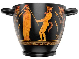 ancient greek pottery 3D model