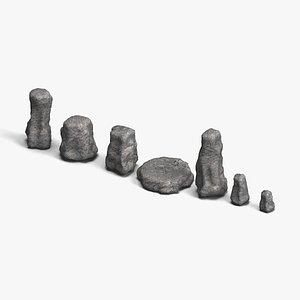 3D Rock Set 05 - Base