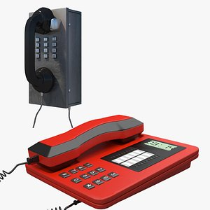 Telephone Collection 3D model
