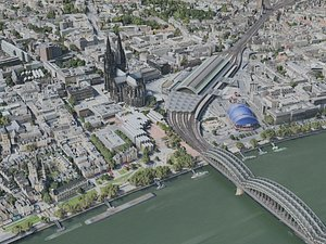 3D model cologne city