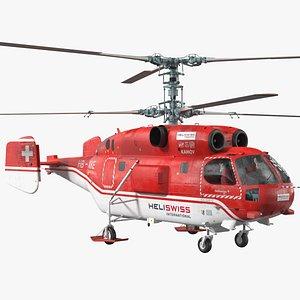 3D Kamov KA-32 Firefighting Helicopter