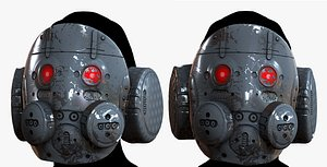 High quality gas mask helmet! This photo-realistic model will bring an expert level of realism to yo 3D model